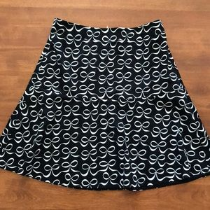 Kate Spade ♠️ black & white bow skirt